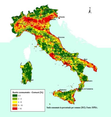 Il consumo di suolo in Italia - Edizione 2015