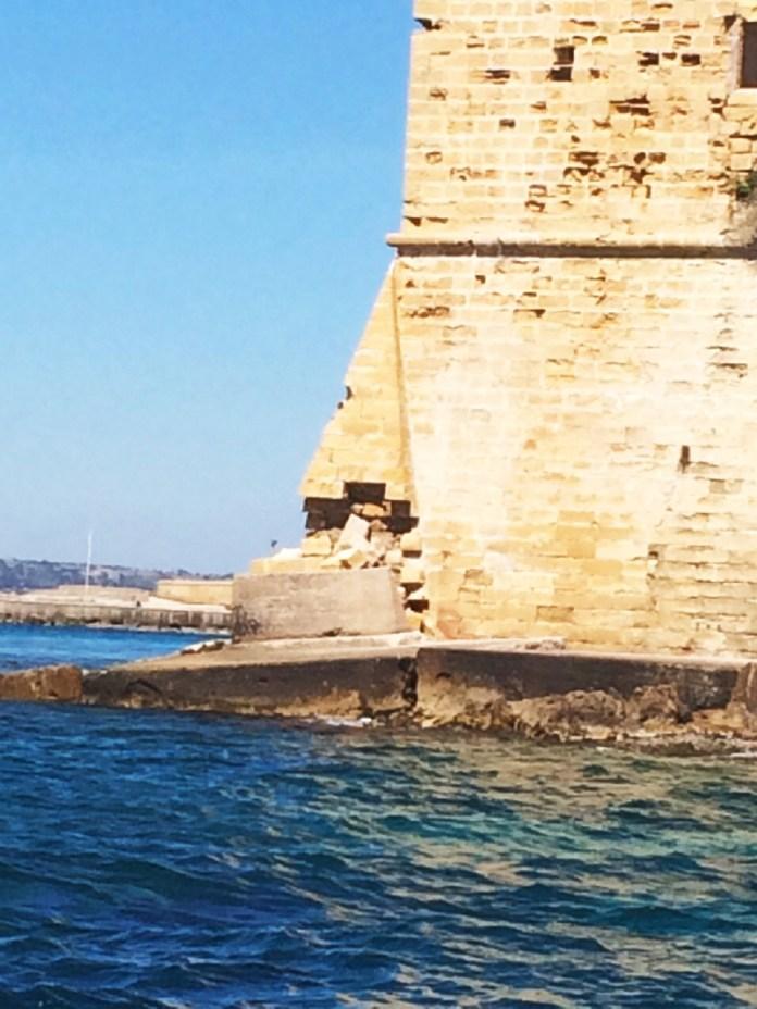 cedimento mura palazzo san francesco-bastione