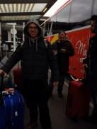 appena atterrati all'aeroporto di Parigi