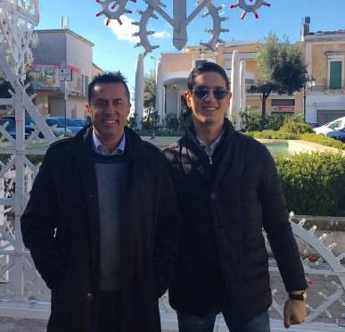Da sinistra l'ex consigliere comunale Massimo Del Genio e l'imprenditore Gialuigi Parrotto