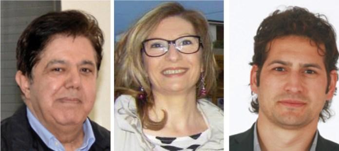 Dall'alto: Roberto Falconieri, Valeria Marra e Davide Stamerra