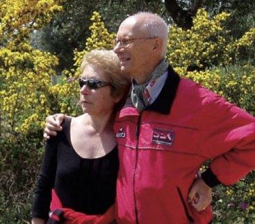 «Da Gilles ho avuto una lezione di vita: non darsi per vinti» è la frase dell'ingegner Nosetto (a Gallipoli con la moglie Renata)