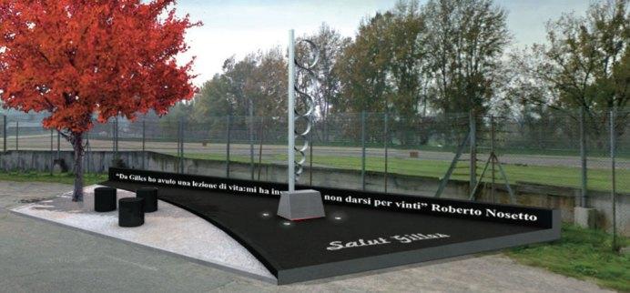 Il Memoriale dedicato al campione canadese nell'autodromo imolese