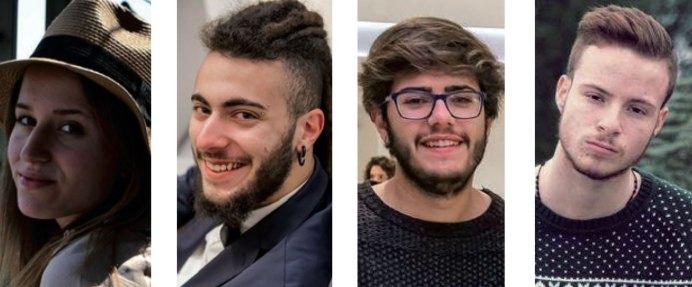"""I rapprentanti del """"Vanini"""": Ire-ne Nicolazzo, Massimiliano Sferrazza, Giordano Primoceri e Alessandro Causo"""