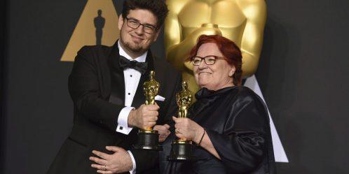 Kristof Deak (director) and producer Anna Udvardy