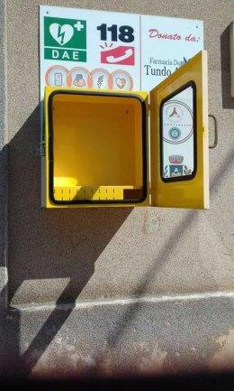 La postazione dalla quale è stato rubato il defibrillatore