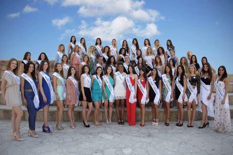 Miss Mondo italia finaliste con fascie di regione