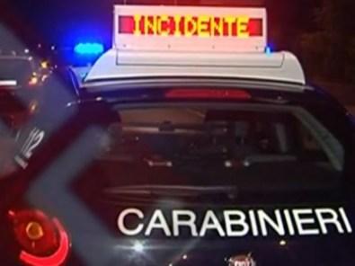 Carabinieri incidente
