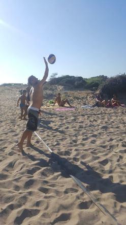 Claudio Baglivo sulla spiaggia