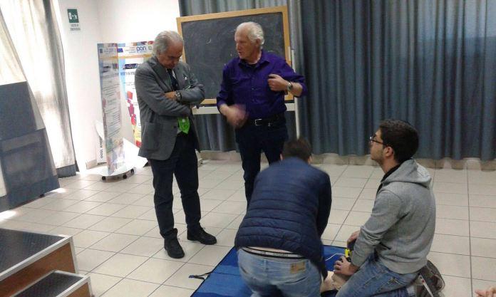 Il cardiologo Giacinto Pettinati e l'istruttore Luigi Benvenga