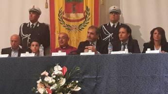 Mons. Angelo De Donatis - cerimonia in Consiglio comunale (foto Loredana...
