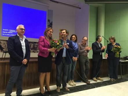 Candida Livatino e il sindaco di Taviano, Giuseppe Tanisi (foto Paola Co...