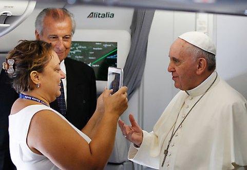 Cristina Caricato e Papa Francesco