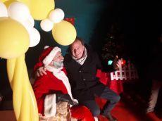 Il Sindaco Luigi Arcuti e Babbo Natale