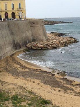 gallipoli purità torna la sabbia nella zona dei lavori