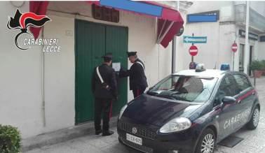 Galatone. il bar temporaneamente chiuso in piazza Costadura