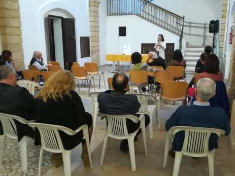 I saluti del'assessore alla cultura, Sonia Cataldo