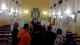 La mostra in parrocchia