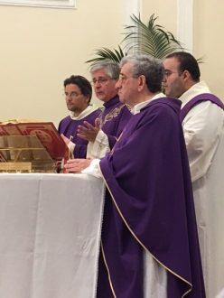 Il vescovo Filograna e don Gino Ruperto