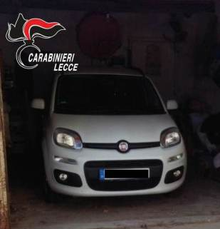 Taurisano, la Fiat Panda rubata