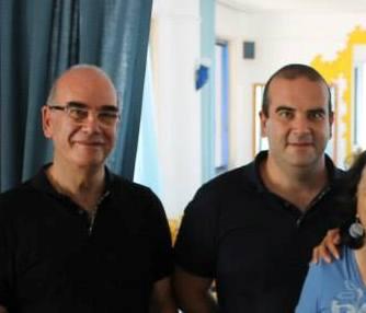 Sandro Monteduro (a dx) con il padre Vittorio