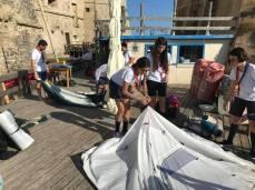 gli scout montano le tende Lega navale Gallipoli