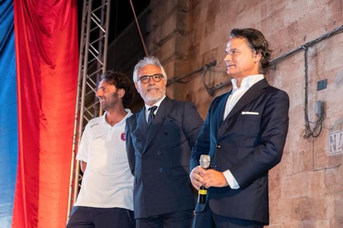 Il ds Marcello Pitino e il presidente Giampiero Maci