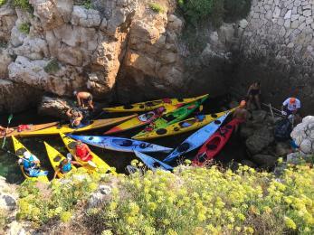 giornata ecologica kayakers 6 Santa Caterina Nardò