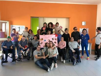 Ospiti e staff del centro Armonia