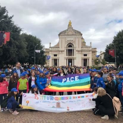 La delegazione alla Marcia della Pace
