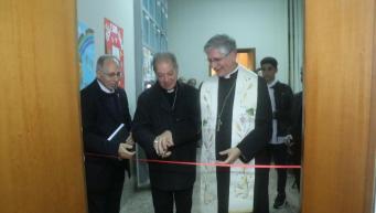L'inaugurazione con il vescovo Filograna
