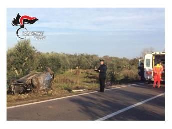 L'incidente sulla Sp 72, Ugento-Casarano