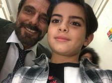 Samuele con Alessandro Preziosi