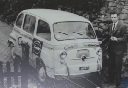 Antonio Giaffreda con la sua auto