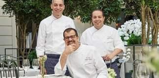 Gli chef Federico Dell'Omarino, Antonio Guida e Nicola Di Lena