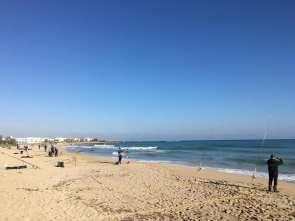 Un momento della gara sulle spiagge di Ugento