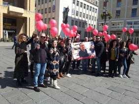 La manifestazione a Lecce per Stefano Leo