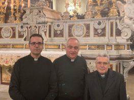 Don Simon Pietro De Lorenzis, don Totò Tundo e don Luigi Ferilli