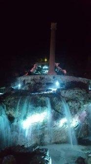 Leuca, la cascata illuminata