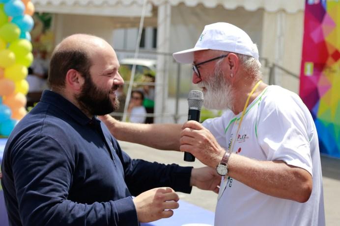 Gallipoli run 2019, il sindaco Stefano Minerva e il dottor Giuseppe Serravezza della Lilt