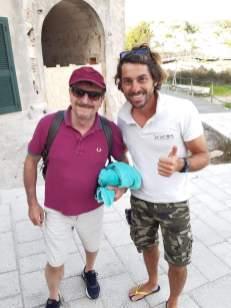 Giacomo Poretti al porto turistico