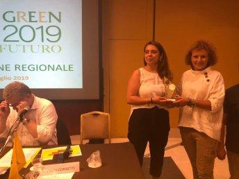 Paola Melcarne ritira il premio