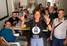 Il Sindaco di Specchia Alessandra Martinucci con lo staff della Notte bianca