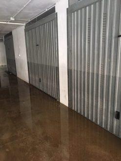 L'altezza raggiunta dal mare in un garage
