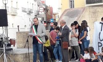La manifestazione per la legalità con il sindaco Flavio Filoni