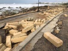 Muro lungomare Torre San Giovanni distrutto dal maltempo 3