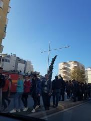 Gnete per strada a Durazzo