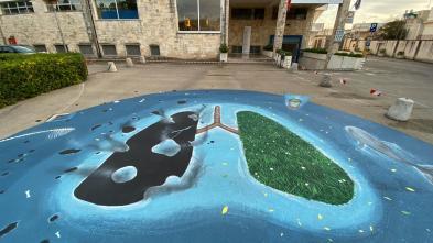 Il murales di Gianle Lametà all'ex ospedale di Nardò