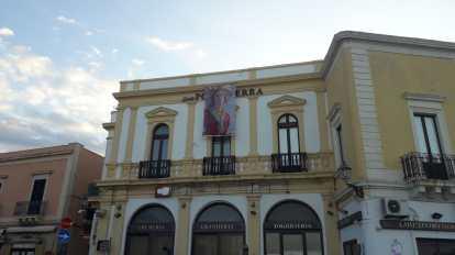 L'effigie di Santa Cristina nel centro storico di Gallipoli