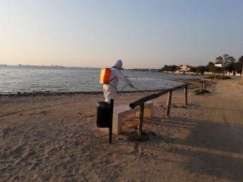 Porto Cesareo, sanificazione lungo le spiagge